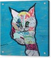 Green Eyed Love Bug Acrylic Print