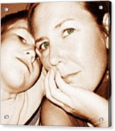 Green Eyed Mom Acrylic Print