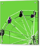 Green Ferris Wheel Acrylic Print