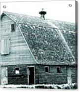 Green Field Barn Acrylic Print