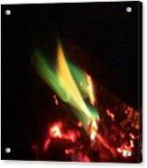 Green Fire Acrylic Print
