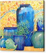 Green Fish And Friends Acrylic Print