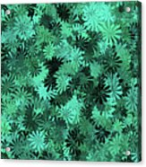 Green Floral Pattern Acrylic Print