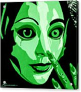 Green Forest Fairy Acrylic Print