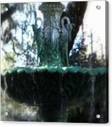 Green Fountain Acrylic Print