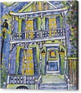 Green Garden District Home Acrylic Print