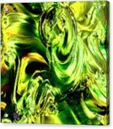 Green Glass Acrylic Print