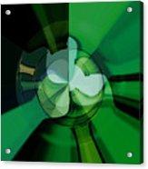 Green Glass Wheels Acrylic Print