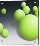 Green Globules Acrylic Print