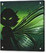 Green Glow Acrylic Print by Elaina  Wagner
