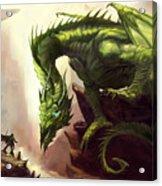 Green God Dragon Acrylic Print