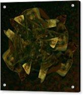 Green Gold Acrylic Print