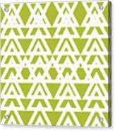 Green Graphic Diamond Pattern Acrylic Print
