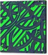 Green Grate Acrylic Print