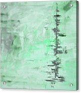 Green Gray Abstract Acrylic Print