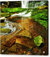 Green Grotto Acrylic Print