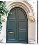 Green Guarded Door Acrylic Print