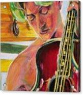 Green Hair Red Bass Acrylic Print