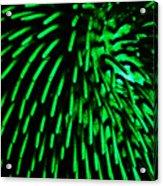 Green Hairy Blob Acrylic Print