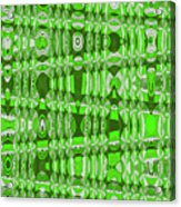 Green Heavy Screen Abstract Acrylic Print