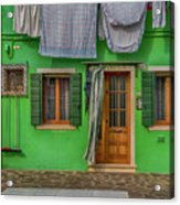 Green House And Hanging Wash_dsc5111_03042017 Acrylic Print