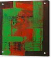 Green Interlock Acrylic Print
