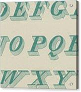Green Italic Font Acrylic Print