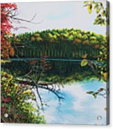 Green Lakes Acrylic Print