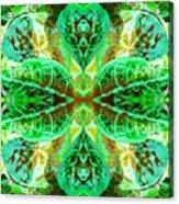 Green Leafmania 3 Acrylic Print