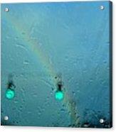 Green Light To A Rainbow Acrylic Print