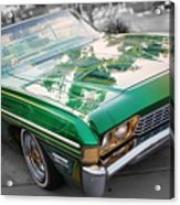 Green Low Rider Acrylic Print