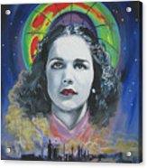 Green Madonna Acrylic Print