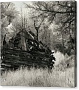 Green Mountain Cabin Acrylic Print
