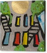 Green Ny Acrylic Print