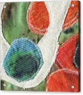 Green Orange Abstract 1  Acrylic Print