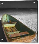 Green Paddle Boat Playa Del Carmen Acrylic Print