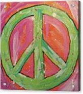 Green Peace Acrylic Print