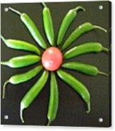Green Pepper Design Acrylic Print
