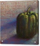 Green Pepper Acrylic Print