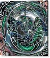 Green Planet Acrylic Print