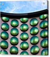 Green Polka-dot Curve Acrylic Print