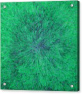 Green Radation With Violet  Acrylic Print