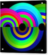 Green Rainbow Acrylic Print