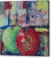Green Red Apple Duo - SOLD Acrylic Print
