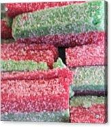 Green Red Sugary Sweet Acrylic Print