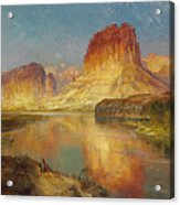 Green River Of Wyoming Acrylic Print by Thomas Moran
