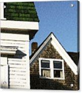 Green Roof Stonington Deer Isle Maine Coast Acrylic Print
