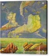 Green Sea Acrylic Print