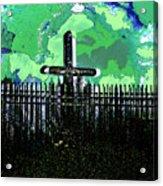 Green Sky Cross Acrylic Print