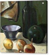 Green Still-life Acrylic Print